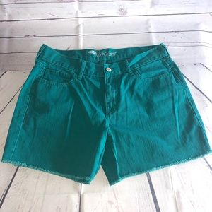 Old Navy Woman's Teal Jean Shorts Size 8